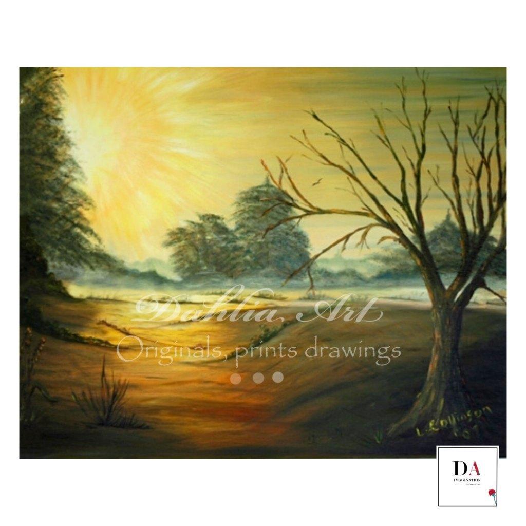 New Awakening, Oil on canvas