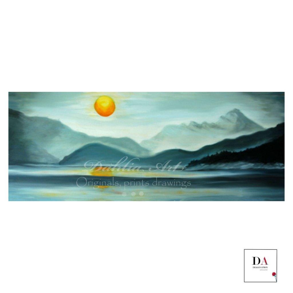 Mountain Meditation, oil on canvas