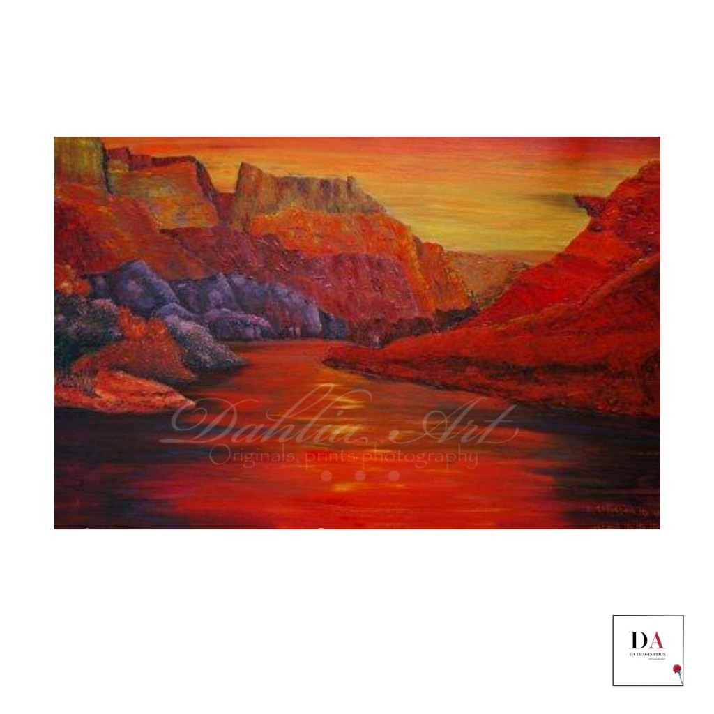 Canyon in Another Land Oil on canvas