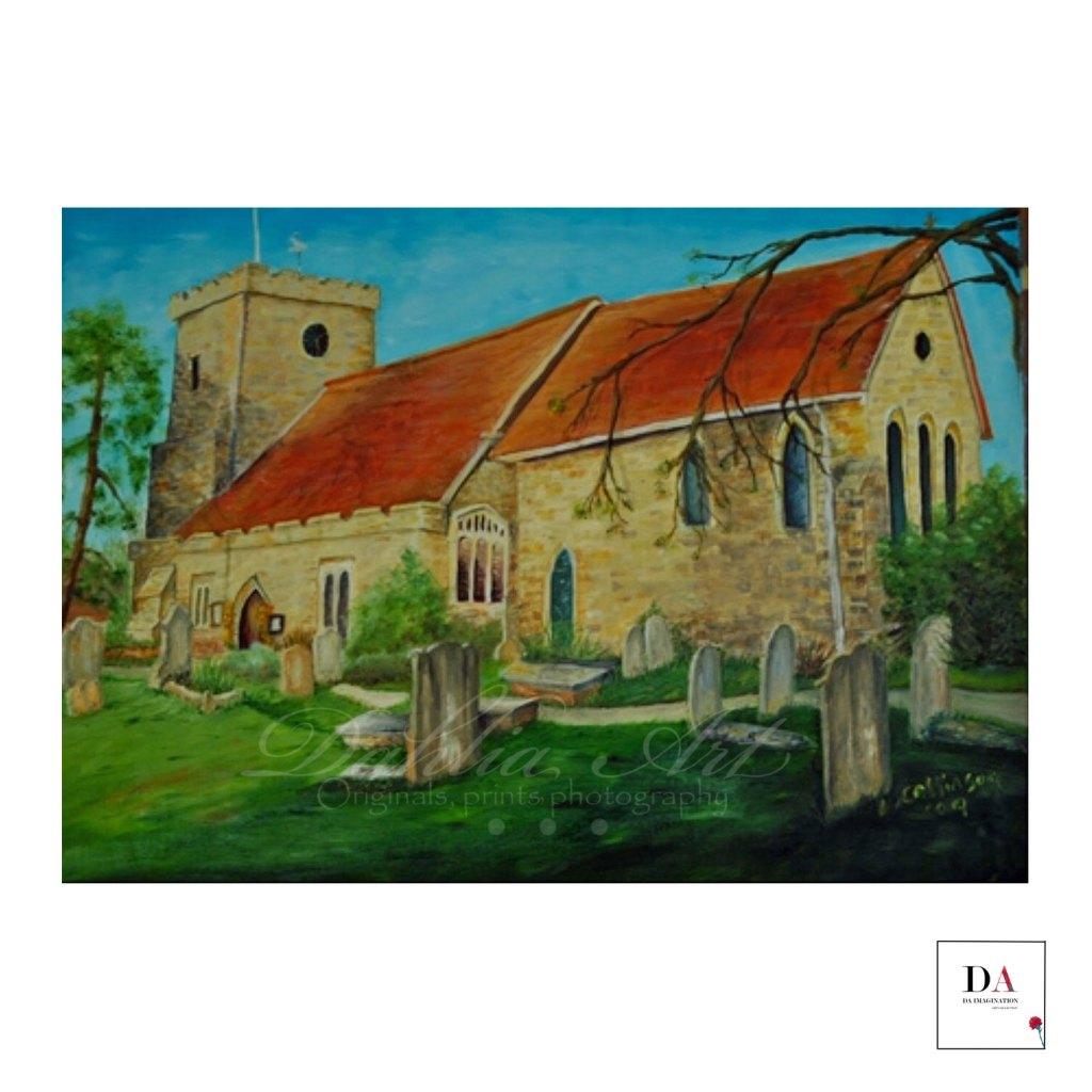 Hellingly Church, oil on  canvas