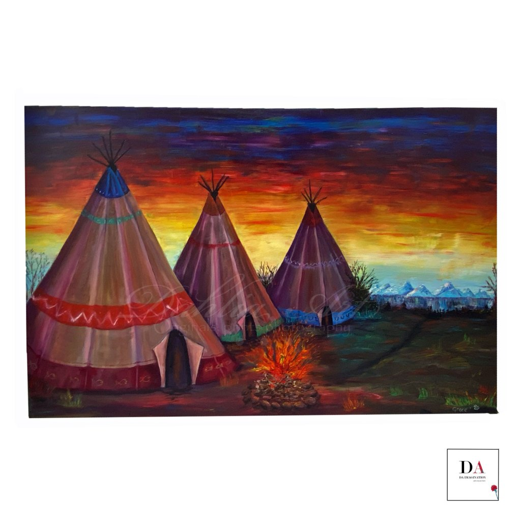 Retreat, oil on canvas