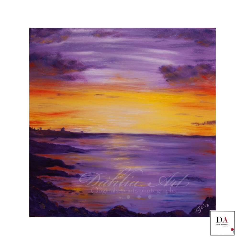 Violet Ray Ocean, oil on canvas