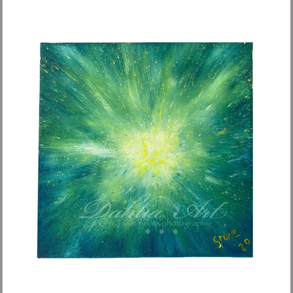 Exploding Serenity, oil on canvas