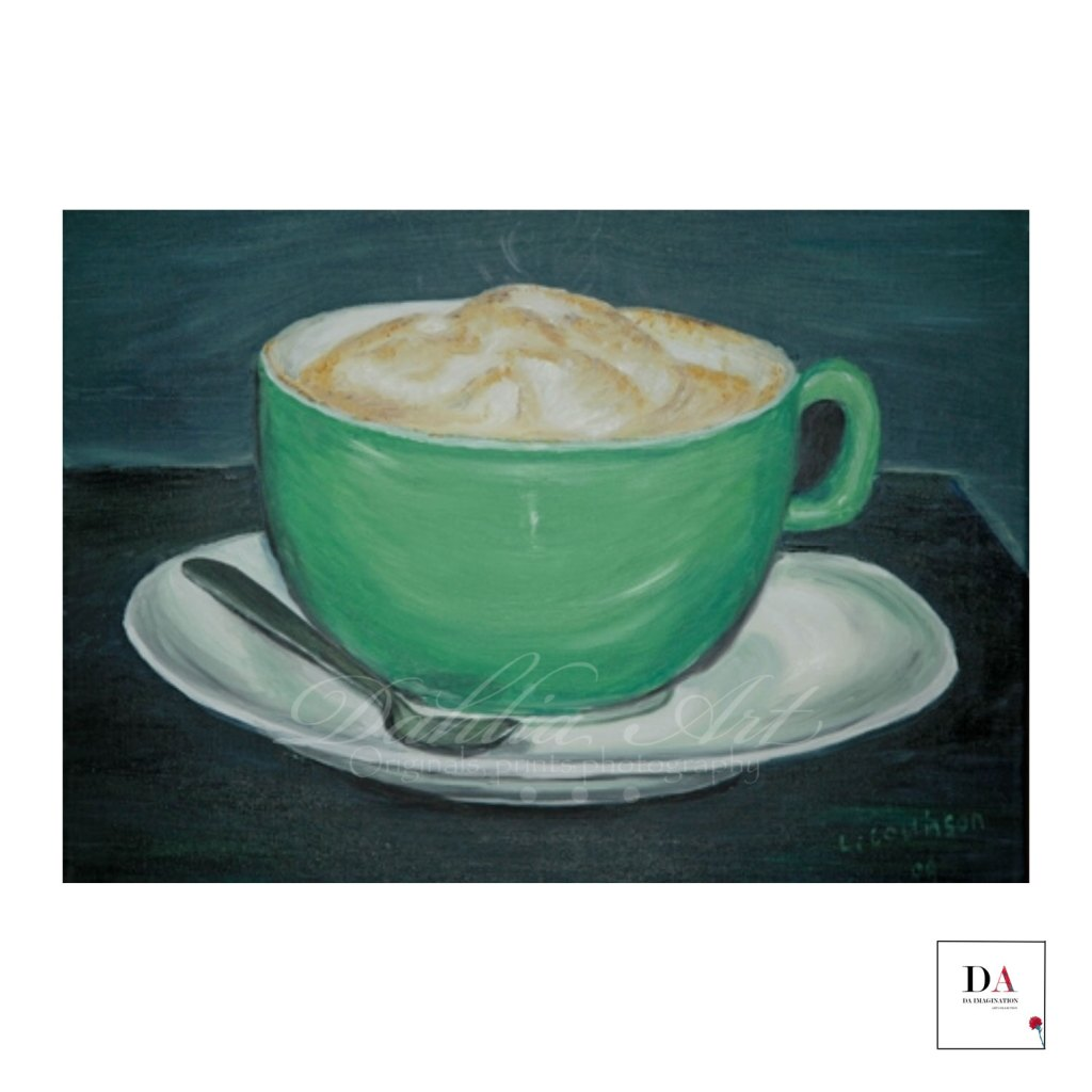 Coffee in the Keys, oil on  canvas