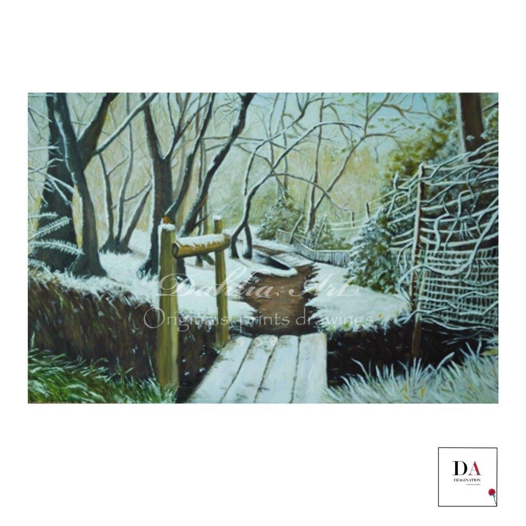 Snowy Path, oil on canvas